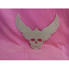 4mm thick  MDF Skull with wings